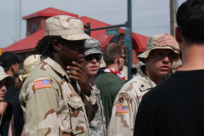 Military veterans against the Iraq War were among protesters at the 2008 Democratic National Convention in Denver.