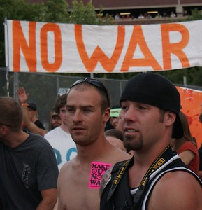 Anti Iraq war protesters at 2008 DNC in Denver.
