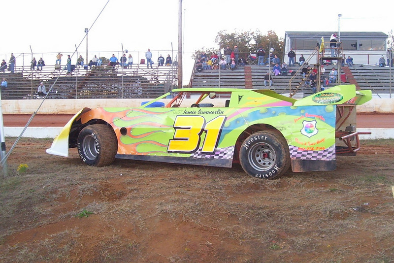 The Late Jamie Summerlins Modified 4 car...R.I.P. Jamie
