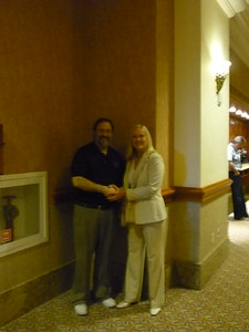 President Marty Davidoff with Eileen O'Connor