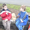 Cameron and Jaedon eating lunch at Happy Valley Park
