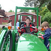 Cameron on the tractor (Cody on right)