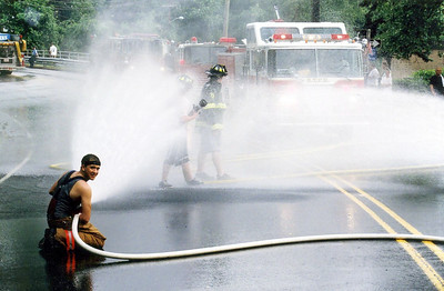 Photo's from  Bogota Fire Dept. Triple Wetdown 6-14-08