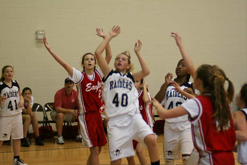 AHS Jr Raider BB 6th Ladies vs Milton 000