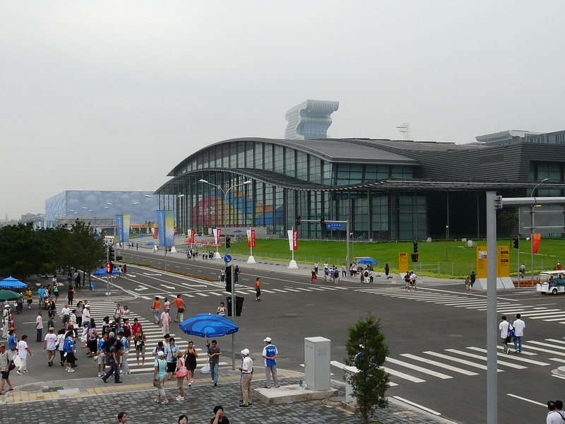 pool and indoor stadium viewed from Omega Hospitality Center