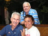 Tom, Jim, Zennie at Speedo dinner for Team USA