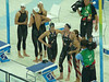 end of 4X100 freestyle relay swim