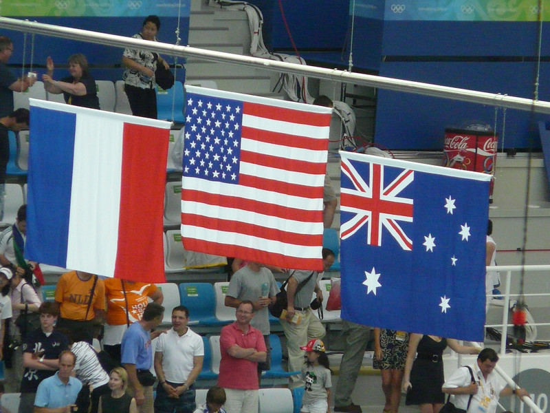 USA Men- gold medal in 4X100 freestyle--Jason Lezak saves the day!