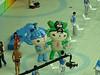 mascots inside pool