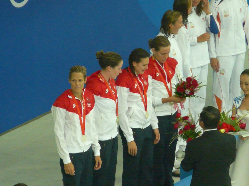 4X100 freestyle relay silver medal