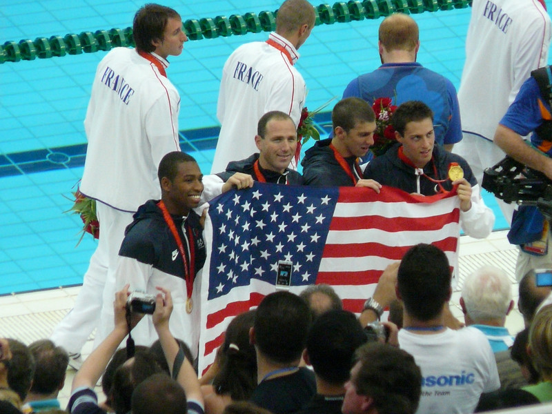 USA Men- gold medal in 4X100 freestyle