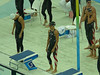 Natalie getting ready to start 4X100 freestyle relay