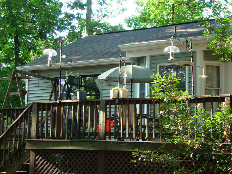 Our back deck.