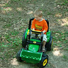 Aidan with his new tractor Nan Nut got him!