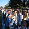 Yep, it's crowded.  8000 runners.  Ack!