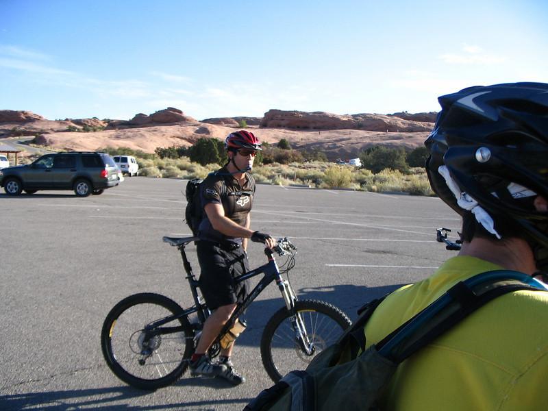 Brain- Slickrock parking lot. day one-Slickrock Trail
