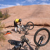 Igor straightens his hanger day one-Slickrock Trail