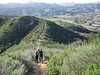 Pushing up the steep connector from the Las Virgenes View to the New Millennium Trail