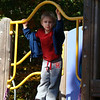 Playing at the playground after karate.