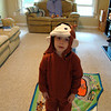 Aidan trying on his Curious George costume..he looks so cute!