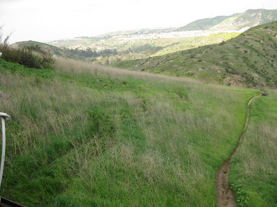 We rerouted the trail to the left of this steep eroded section.