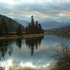 Stormy but Colorful Skies and a Glassy Kootenai River