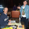 Two terrific volunteers, FM and Mandie, get us signed in.