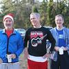 Steve Huff, Bob Wright, and Steve Corkery enjoy hot chocolate and camaraderie.