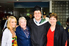 Now if I could only get my wife to look at the camera ... proud family including Grandmom, who flew in from California, stand with the graduate.