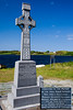 This is a monument to Lord Leitrim . . . NOT!  The monument side facing you is Gaelic, I have put the English version in as an inset.  These 3 Fanad Patriots killed the infamous landlord, Lord Leitrim, on my birthday. One, Michael McElwee, is a distant relative.