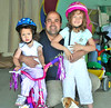 After I sent out the first blog on this gallery, Carlos Pastor sent me this picture of him and his daughters, Emilia and Sophie, since I did not get a good one of him and only one of Emilia during our visit.