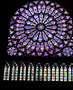 Just one example of stained glass in Notre Dame
