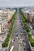 Here's a view down the Champs-Elysees from the Arc.