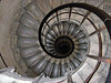 Staircase down the Arc de Triomphe - the French LOVE spiral staircases.  This was a load.