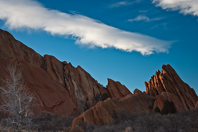 Last Winter Light on Fountain Formation hogback - Roxborough State Park - Fountain Valley, CO