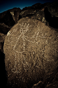 Rio Grande style petroglyph - Boca Negra Canyon trail - Petroglyph NM, New Mexico