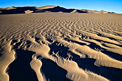 Sand Sheet Ripples - Evening - Great Sand Dunes National Park, CO