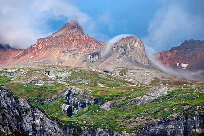 Clearing Summer Storm Golden Horn and Pilot Knob - Ice Lakes Basin San Juan Mountains, Colorado Tertiary volcanics from Silverton Caldera