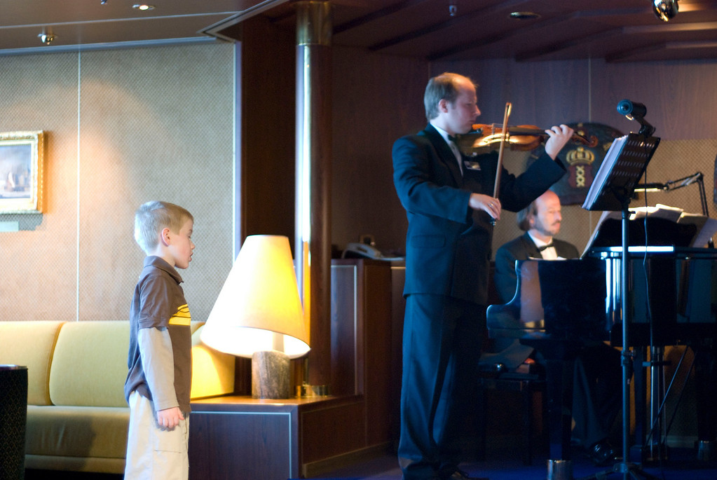 And then checking out the string trio in the bar.