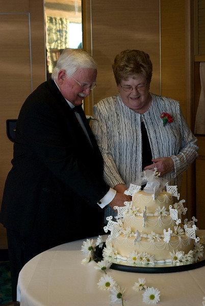 And a re-enactment of the cake cutting, 50 years on!