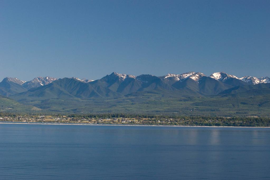 Olympic mountains over Bainbridge Island.
