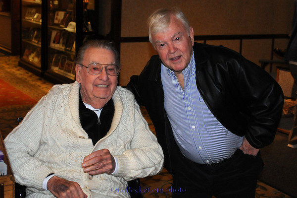 George Rood & Marshall 'Squirrel' Carpenter -- about a hundred and fifty years of pool experience between them!