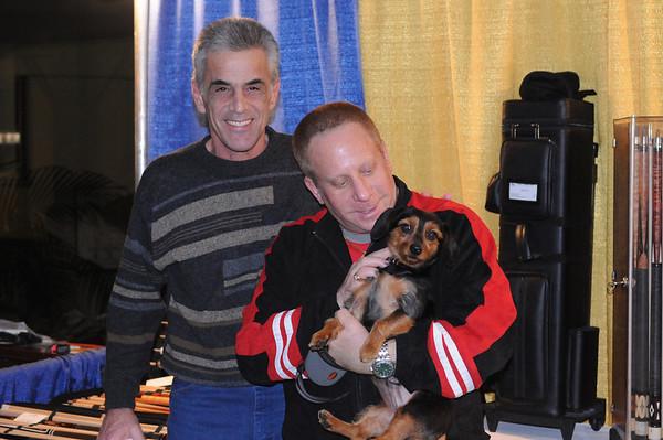Jimmy Fusco with Barry Berman & his dog 'Buddy'