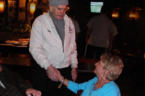 Bunny 'Pots & Pans' Rogoff, another Johnston City veteran, with JoAnn (Jansco) McNeal