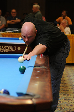 ... except Vernon used to put the cue ball against the side rail, not a ball's width off