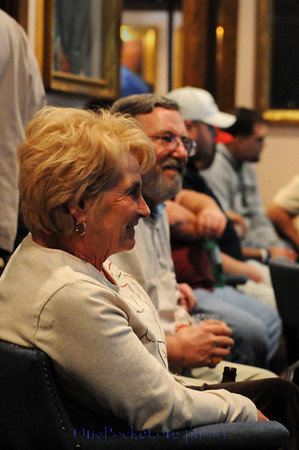 Joanne (Jansco) McNeal and her husband sweating the action -- just like the old days in the back room at Johnston City