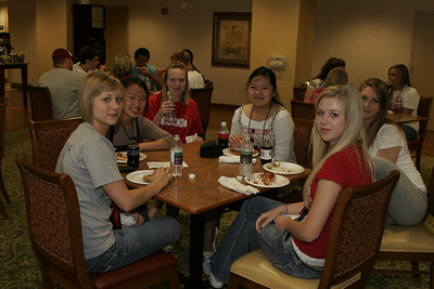 Pizza party at Knoxville, TN Hampton Inn