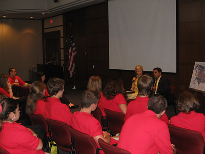 Dena Stoner, VP of NRECA Government Relations and Neil Chatterjee, Lobbyist talk to the YLC about current events on Capitol Hill.
