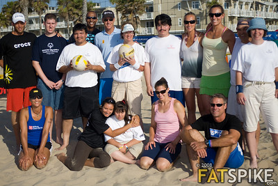 Beach greats with Special Olympians