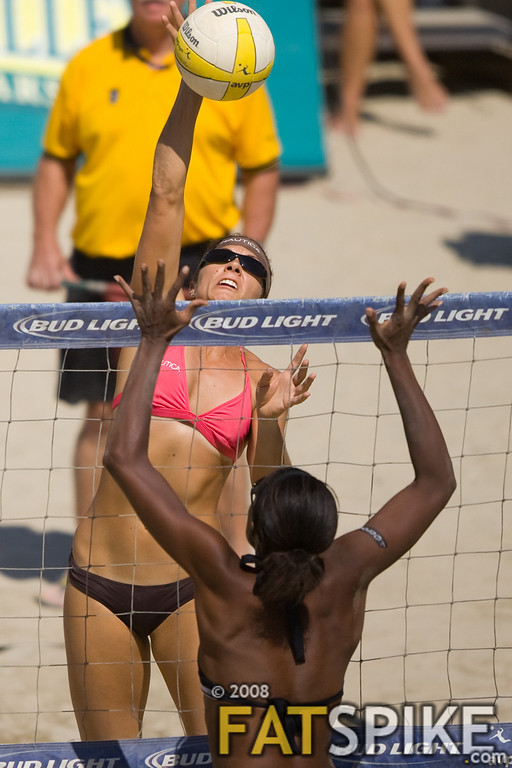 Misty May-Treanor pounds one